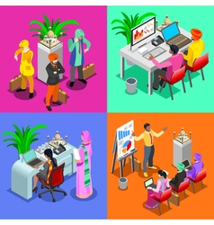 Business Indian 03 Isometric People vector