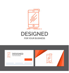 business logo template for device mobile phone vector image
