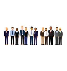 Business men in a line vector