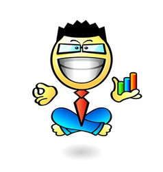 business yoga smiley vector image