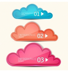 Colorful paper speech bubble Numbered banners vector image