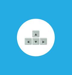 control arrow icon sign symbol vector image