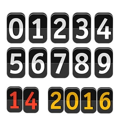 Counter with digits set Flat design vector