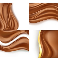 Creamy milky chocolate vector