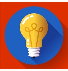 Creative idea in light bulb shape as inspiration vector