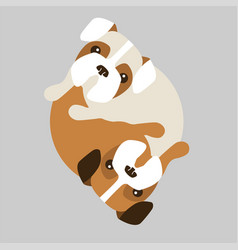Dogs in a circle vector