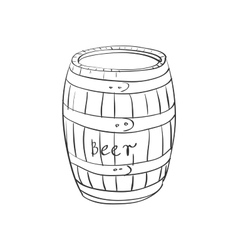 doodle barrel vector image