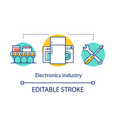 Electronics industry concept icon electrical vector