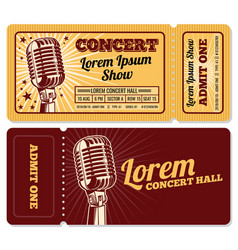 Event or concert ticket admission entry isolated vector