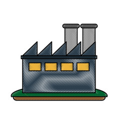 factory plant symbol vector image