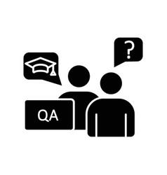 Faculty advisor black glyph icon vector