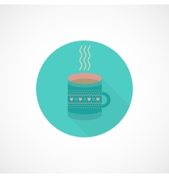 Flat icon cup of tea coffee vector