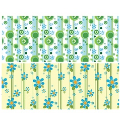 Floral web banner vector