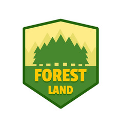 Forest land logo flat style vector