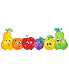fruit theme image 2 vector image