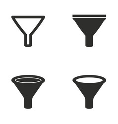 Funnel icon set vector