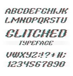 Glitch font vector