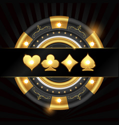 Gold chip and suit vector