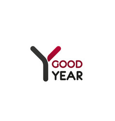 good year letter y icon vector image
