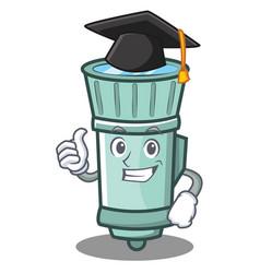 Graduation flashlight cartoon character style vector
