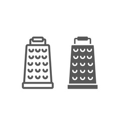 grater line and glyph icon kitchen and cooking vector image