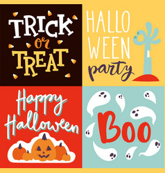 halloween party celebration invitation cards vector image