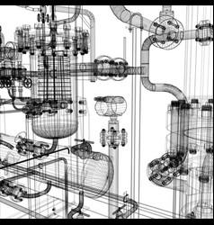 Industrial equipment vector