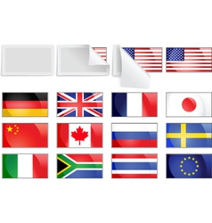 International transfer flags vector