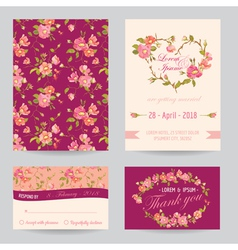 Invitation Congratulation Card Set vector image