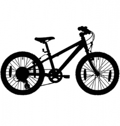 kids bicycle silhouette vector image
