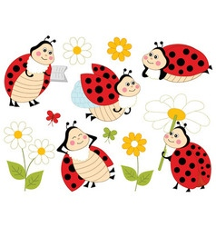 Ladybugs Set01 vector