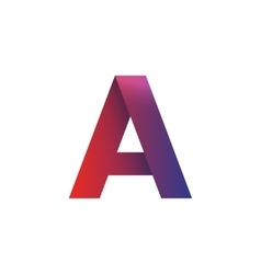 Letter A logo element isolated symbol vector image