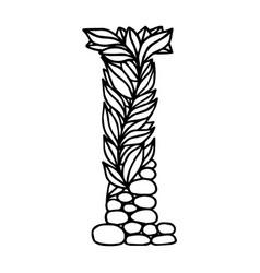 Letter alphabet i vector