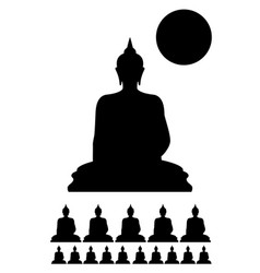 Makha bucha day icon vector