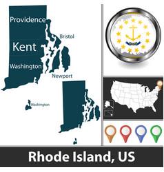Map rhode island us vector