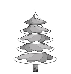 merry christmas tree celebration vector image