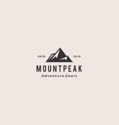 Mount peak mountain logo hipster vintage retro vector