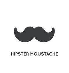 mustache stylish icon glyph moustache vintage vector image