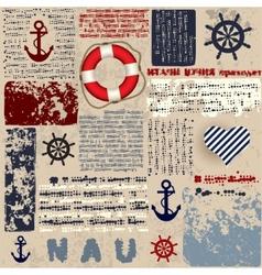Nautical style vector