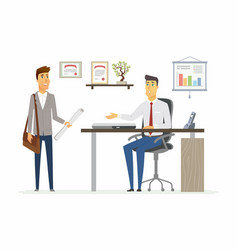 office day - modern cartoon business vector image
