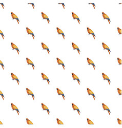 orange parrot pattern seamless vector image