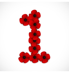 poppies number vector image