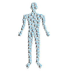robotics manipulator human figure vector image