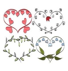 Romantic frame Valentines doodle vector