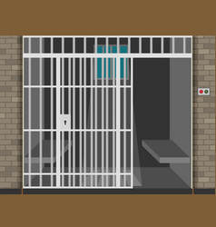 Scene with prison room flat vector