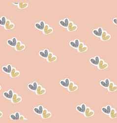 seamless pattern for happy valentine day vector image