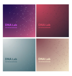 set of background - dna strands coming out of a vector image