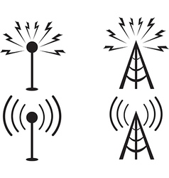 Signal towers vector