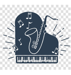 silhouette icon of jazz music vector image