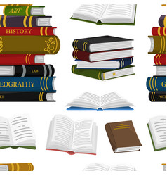 stack books seamless pattern background vector image